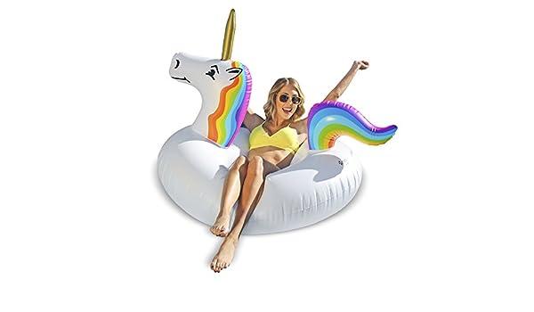 GoFloats Unicornio Fiesta Tubo Inflable Flotador: Amazon.es: Deportes y aire libre