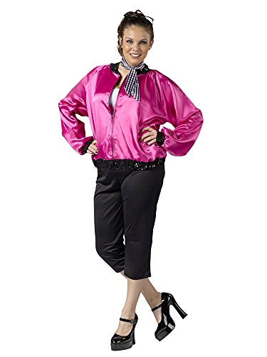 1950s Party Costume Ideas (Pink T-Bird Sweetie Adult Costume - Plus Size 1X/2X)