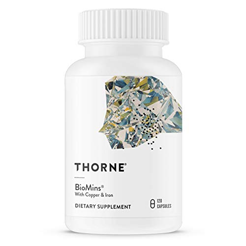Thorne Research – BioMins – Comprehensive Multi-Mineral Supplement with Copper and Iron – 120 Capsules