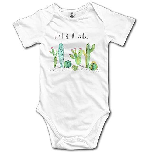 TCJX Unisex Baby's Climbing Clothes Set Don't Be A Prick Bodysuits Romper Short Sleeved Light Onesies for 0-24 Months White ()