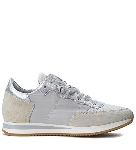 Philippe Model Sneakers Tropez Mondial Beige Og Sølv Hvid DVL1mt
