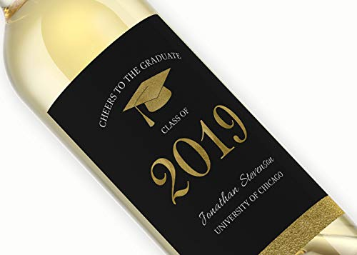 Grad Party Wine Labels, Graduation Present, CUSTOM Graduation Party Centerpieces, Grad Party Wine Labels, College Graduation labels, Congrats Grad, Graduation Gift, Sorority Wine Labels, GR-01Gold -