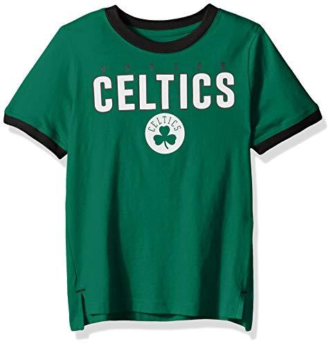 (Outerstuff NBA NBA Kids & Youth Boys Boston Celtics Key Short Sleeve Fashion Tee, Kelly Green, Kids Medium(5-6) )