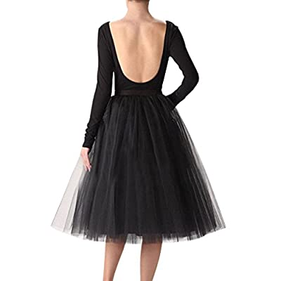 Wedding Planning Women's A Line Short Knee Length Tutu Tulle Prom Party Skirt at Women's Clothing store
