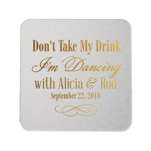 Custom paper coasters wedding