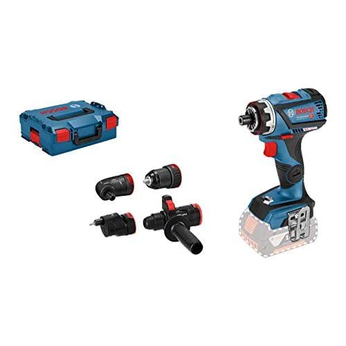 chollos oferta descuentos barato Bosch Professional 18V System GSR 18V 60 FC Atornillador a batería 60 Nm FlexiClick 4 adaptadores sin batería en L BOXX