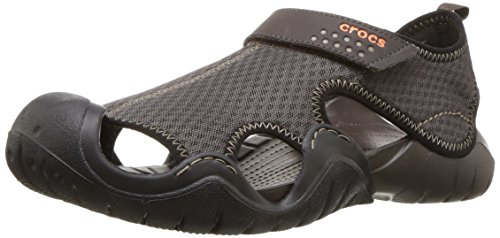 Crocs Men's Swiftwater Sandal,Espresso/Espresso,9 M (Mesh Mens Sandals)