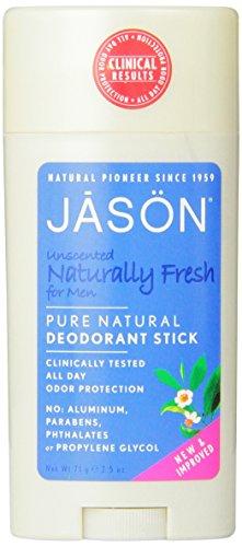 JASON non parfumé pur Naturelles Déodorant stick pour les hommes, 2,5 once de bâton