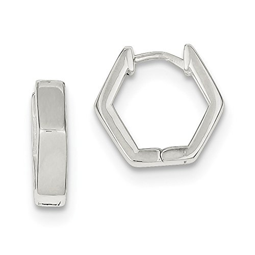 Sterling Silver Huggie-Style Earrings (Approximate Measurements 14mm x 4mm)