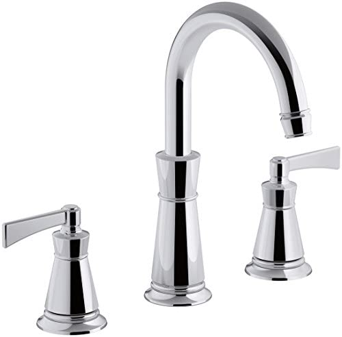 KOHLER T45849-4-CP Archer Deck-Mount Bath Faucet Trim, Polished Chrome