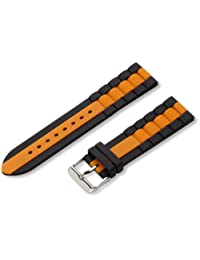 Hadley-Roma Men's MS3344RAG220 22mm Genuine Silicone Diver Sport Watch Strap