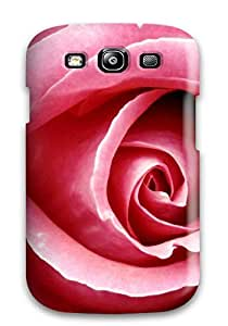 Faddish Phone Beautiful Pink Rose Case For Galaxy S3 / Perfect Case Cover