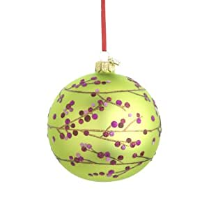 Reed & Barton Berry Branch Ball Christmas Ornament, 4-Inch