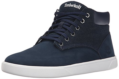 Timberland Men's Groveton Plain Toe Chukka Boot, Blue Washed Denim, 8 M US