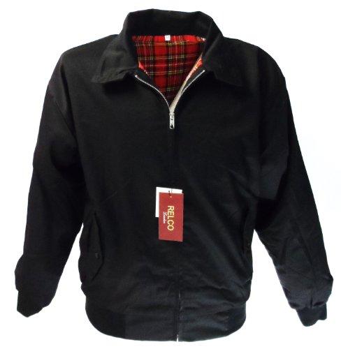 Avec Doublure Ou Noir Foncé Rouge Relco Harrington Tartan Veste Noir Bleu IAx80R8q