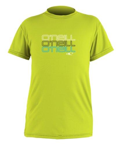 (O'Neill Wetsuits Boy's Toddler Skins Short Sleeve Rash Guard T-Shirt, Lime, 2)
