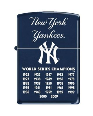 "Zippo ""New York Yankees"" 27 Times World Series Champions Lighter, 8221"