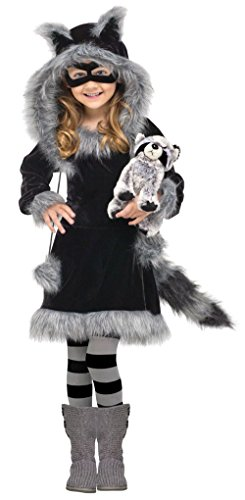 Fun World Costumes Baby Girl's Sweet Raccoon Toddler Costume, Black/Grey, Small (3T-4T) for $<!--$26.24-->