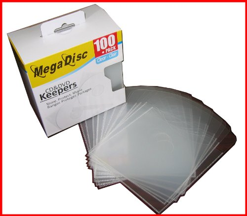 Megadisc Cd / DVD Plastic Keepers Clear 500 Pk