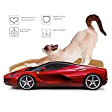 Delxo Cat Scratcher Durable Reversible Cat Scratching Pad Recycled Harden Corrugated Cardboard Sturdy Eco-Friendly Design Maintain Healthy Cat Claws and Protect Furniture Catnip