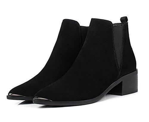 e Boots europea irregolare American Scarpe donna con black qIE8wnA