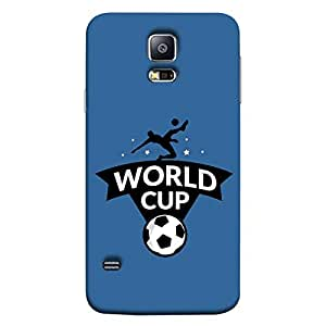 ColorKing Samsung S5 Football Blue Case shell cover - Fifa Cup 14