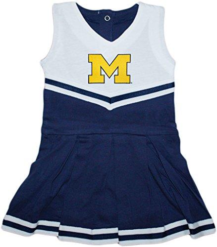 Amazon.com  University of Michigan Wolverines Outline Block M Cheerleader  Bodysuit Dress  Clothing 4821d06a3