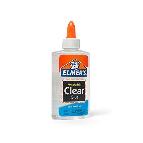 Elmer's Liquid School Glue, Clear, Washable, 5 Ounces, 1 Count