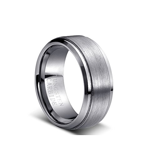 (9MM Tungsten Carbide Men's Wedding Band Ring in Comfort Fit and Matte Finish (13.5))