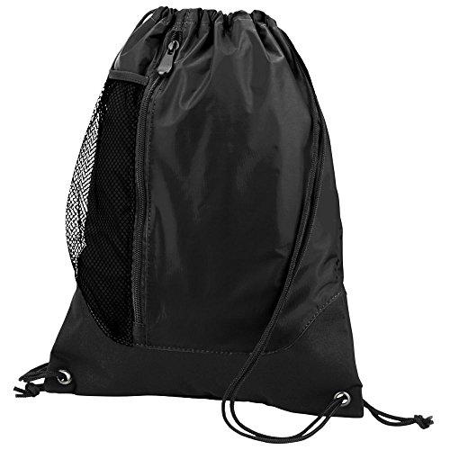 Augusta Sportswear TRES DRAWSTRING BACKPACK OS Black/Black