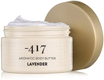 -417 Body Butter Lavender, Smoothing Moisturizer - Shea Butter and Dead Sea Salt Cosmetics, Aromatic Body Butter for Dry Skin