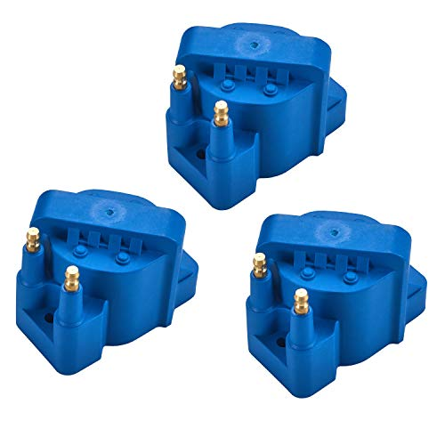High Performance Ignition Coil Pack of 3 for 1986-2009 Buick Chevrolet Cadillac GMC Pontiac L4 ()