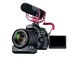 The Canon EOS 80D Video Creator Kit gives you the tools to make your dreams into reality, bundled with a EF-S 18-135mm IS USM Lens, Power Zoom Adapter, RODE VideoMic GO and SanDisk 32GB SDHC card.