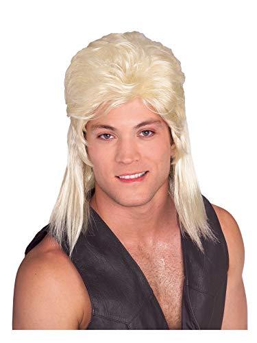 Rubie's Humor Blond Mullet Shoulder Length Wig, Blonde,