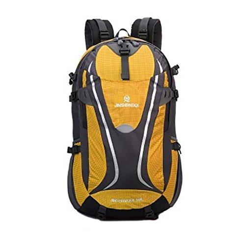 Mochilas mochila de gran capacidad Trekker exterior impermeable bolso de viaje para hombres y mujeres 50L Yellow