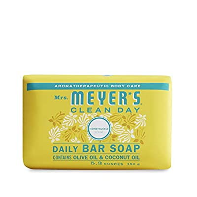 Mrs. Meyer's Clean Day Bar Soap, Honeysuckle Scent, 5.3 ounce