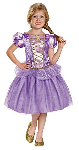 [Disguise Rapunzel Classic Disney Princess Tangled Costume, Small/4-6X, One Color] (Rapunzel Costumes For Girl)