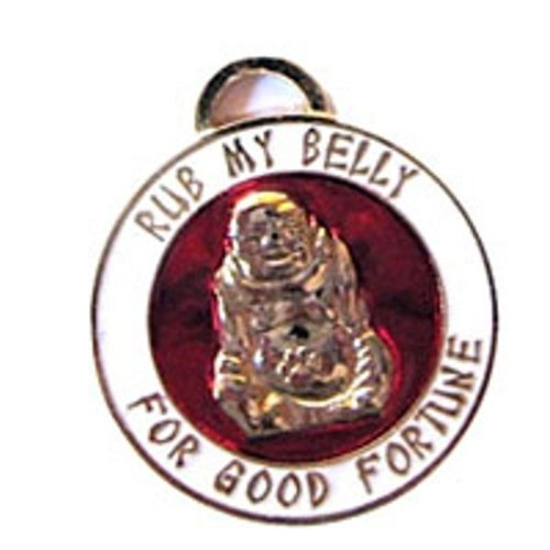 Luxepets Lucky Buddha -InchRub My Belly-Inch Charm by Luxepets