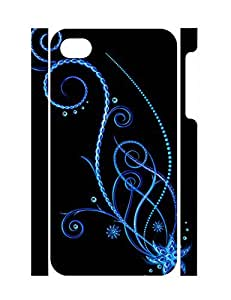 Design Stylish Flowers Durable Iphone 4 4S Phone Hard Shell Case