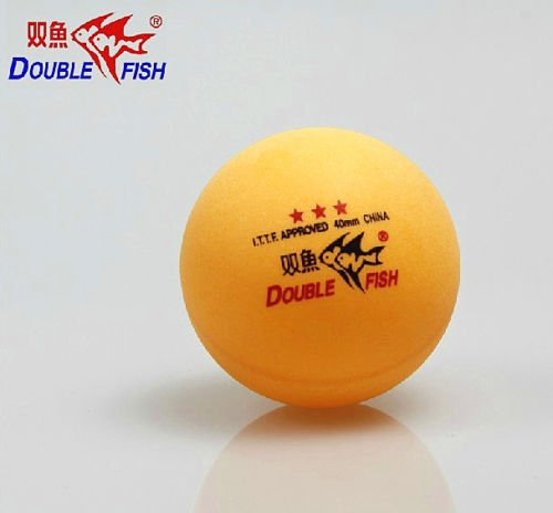 Double Fish 3 Stars 40MM Olympic Games White Ping Pong Balls 6 Pcs 2 Boxes