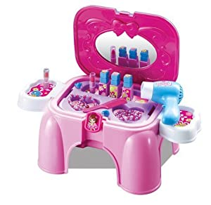 Childrens pretend play dressing table beauty parlour set for Dressing table beauty parlour
