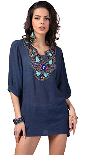 Elacucos Casual Blouse Embroidery Sleeve product image