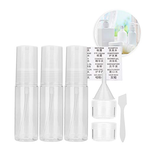 9pcs / Set Empty Bottles Travel Set, Translucent Portable Spray Bottle Lotion Bottles