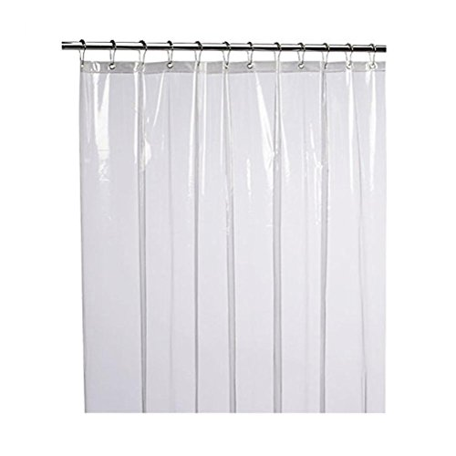 (Vacally Mildew Resistant Anti-Bacterial Shower Curtain Liner Eco-Friendly Decoration for Living Room Bedroom Kid's Room (Clear))