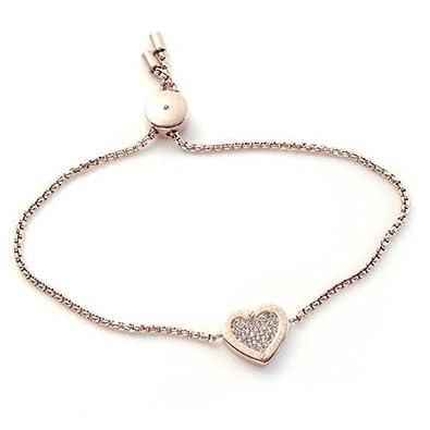 4f4e4f908bf4 Amazon | [マイケルコース] MICHAEL KORS MKJ4142791 Pave Rose Gold-Tone Heart Charm  Bracelet パヴェ ハートチャーム ブレスレット [並行輸入品] | ブレスレット ...