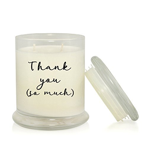 Thank You So Much 8.5 oz Soy Candle - Thank You Gift -Clean Cotton Scented
