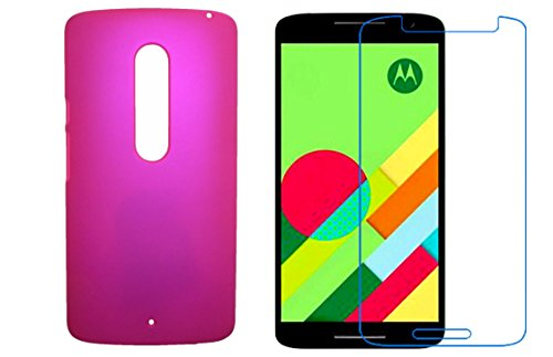 Motorola Moto X Play Back Cover Pink Plus Screen Guard