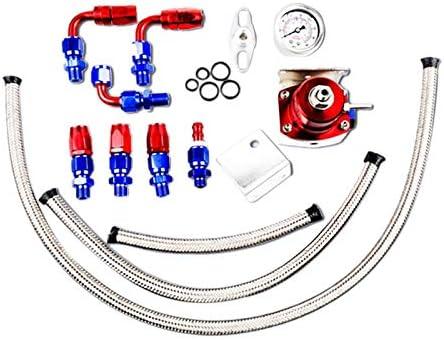 Nrpfell Conjunto de Manguera de Drenaje de Retorno de Aceite de Reabastecimiento Automotriz en un Turbocompresor de Refuerzo de Combustible de Uso General Rojo
