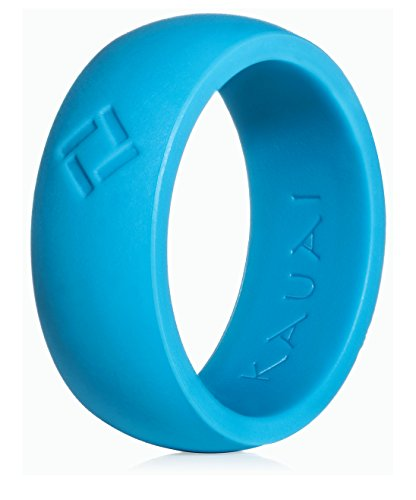 KAUAI - Silicone Wedding Rings Professional Athletes Mens Series. Leading Brand, from The Latest Artist Design Innovations to Leading Edge Comfort (Parachute Blue, 10) ()