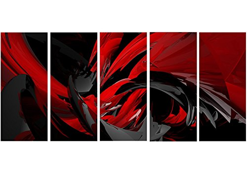 Design Art Designart Red & Grey Mixer Metal Wall Art - MT3049-60x28-5 Panels